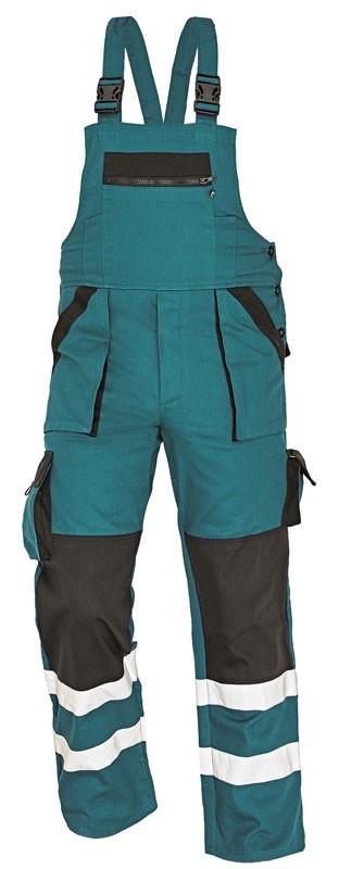 Pracovné odevy - Nohavice MAX REFLEX s náprsenkou