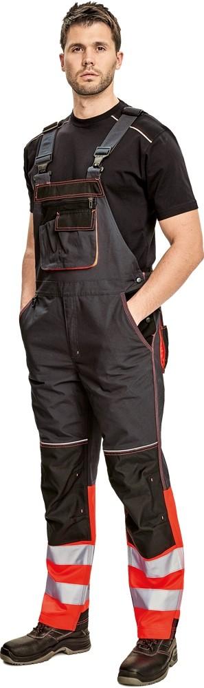 Pracovné odevy - Nohavice KNOXFIELD REFLEX s náprsenkou
