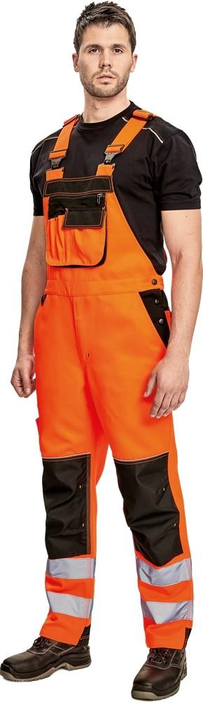 Pracovné odevy - Nohavice KNOXFIELD HI-VIS s náprsenkou